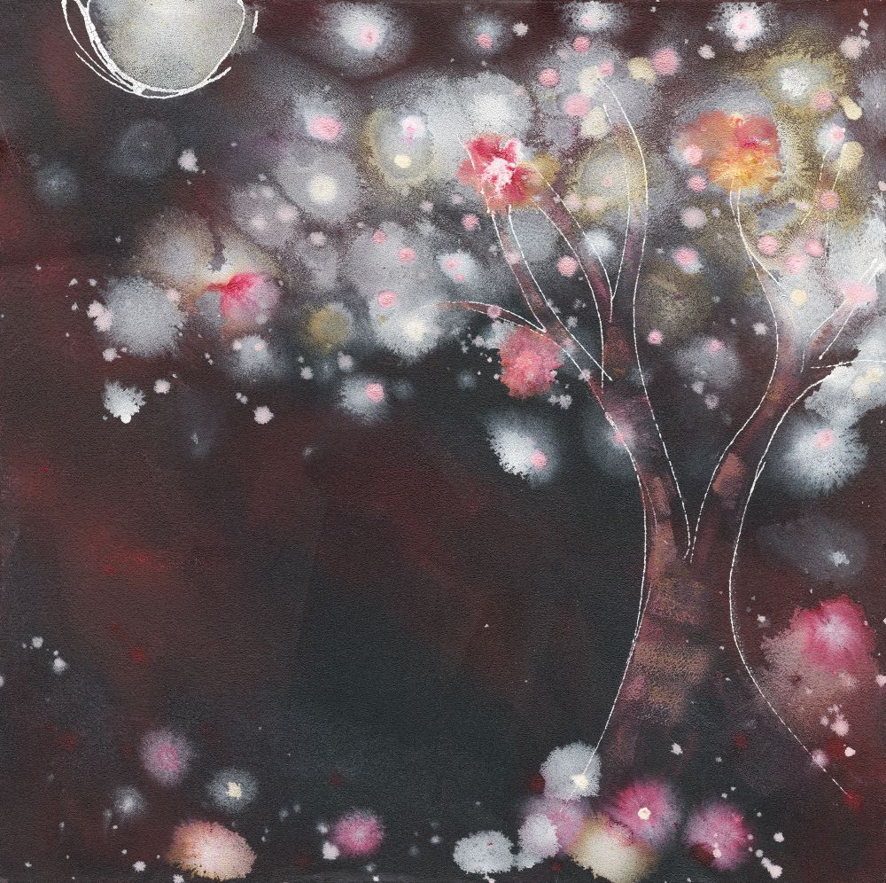 Night Blossoms (red)