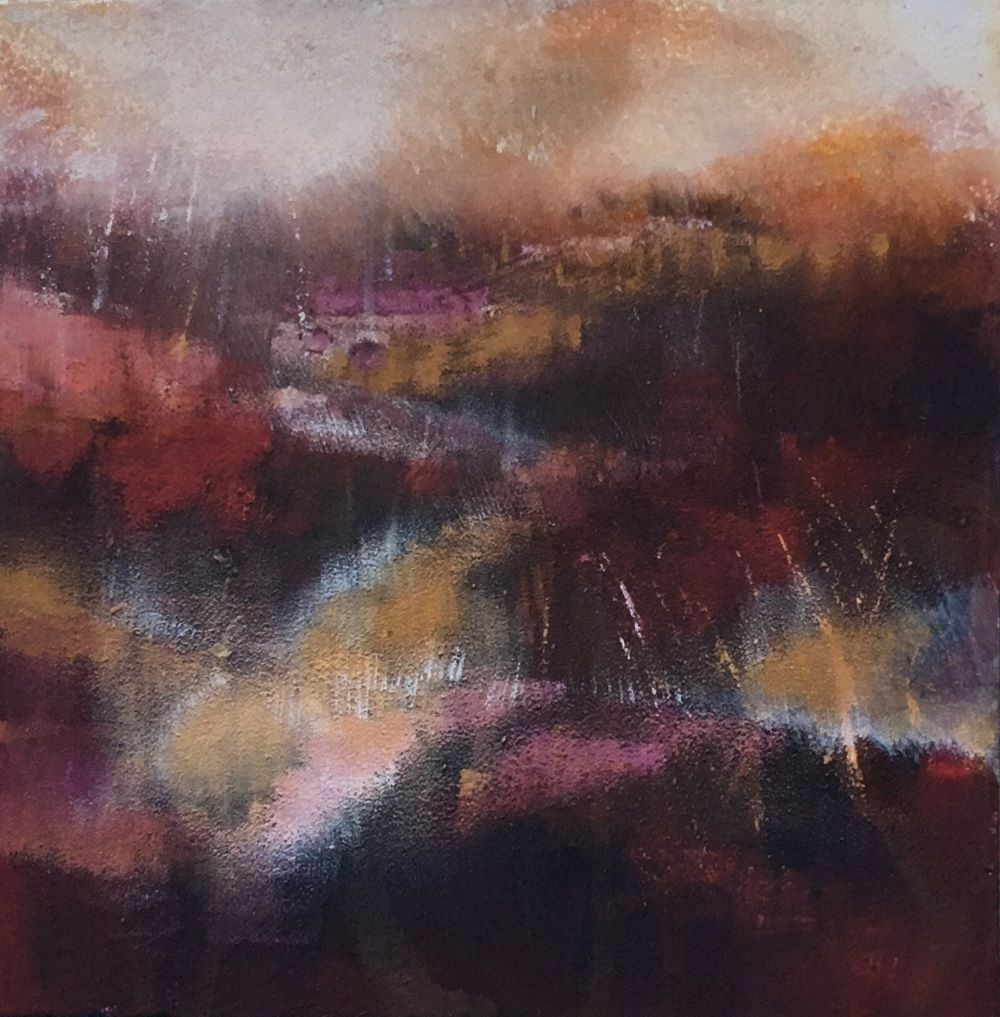 Autumn Blush 2 30x30 Acrylic and earth on canvas