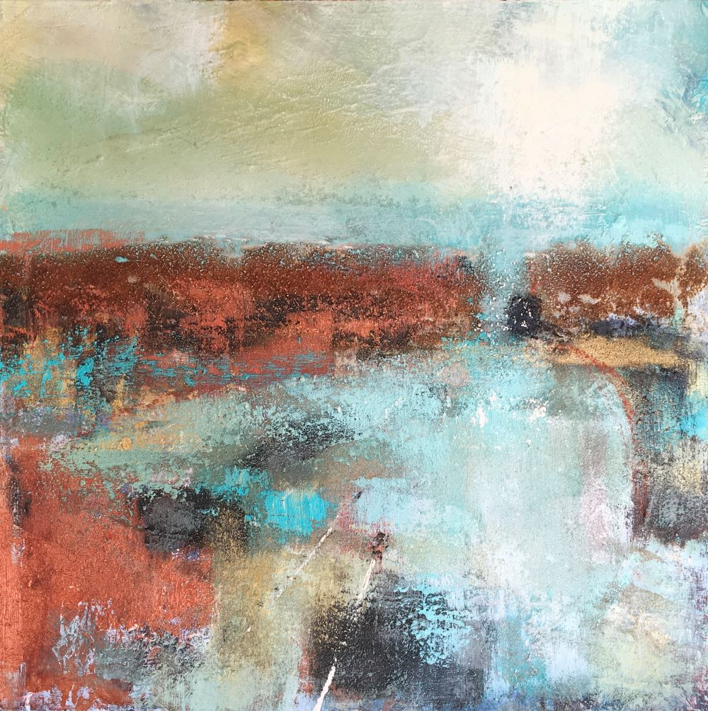 Memories of Mousehole Acrylic and sand on board