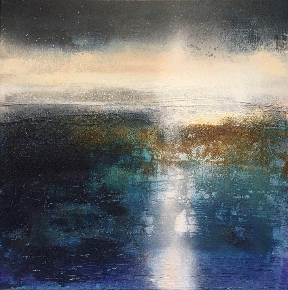 Misty Light Acrylic and Beach sand on canvas