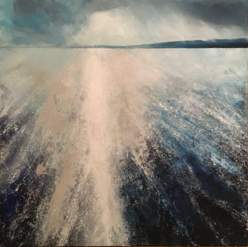 Windrush 90cm x 90cm Acrylic and beach sand on canvas