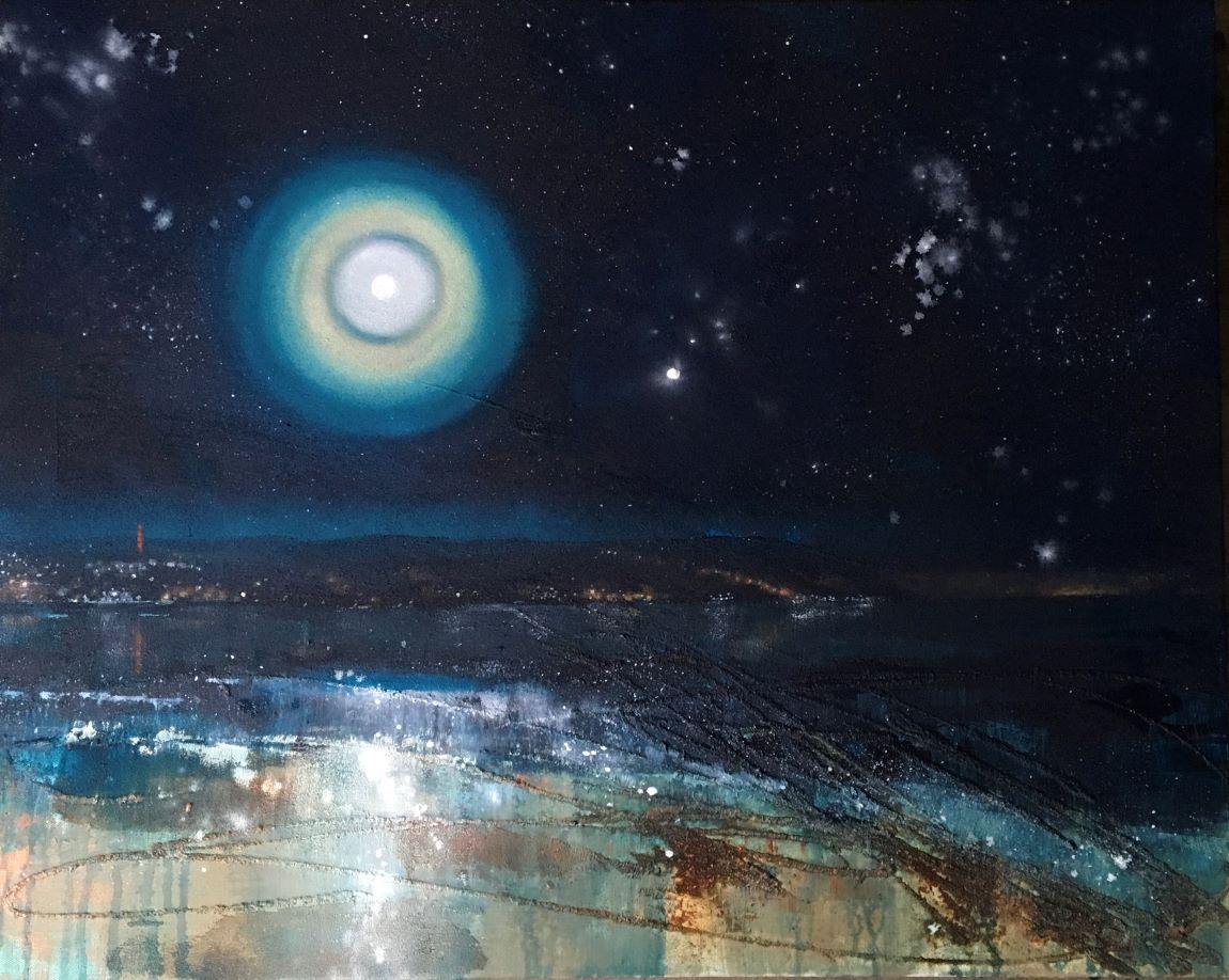 Winter Solstice Moon 76x61cm
